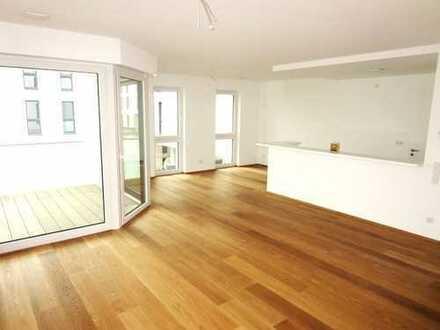 ***NEUBAU-Exklusive barrierefreie Wohnung mit Balkon, Aufzug, Wannenbad, GästeWC & Garage***