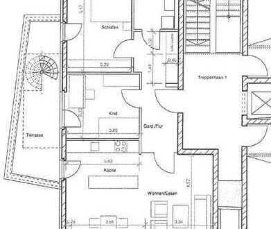 großzügige 3-Zimmer-Wohnung mit Balkon und Terrasse * 91 m²
