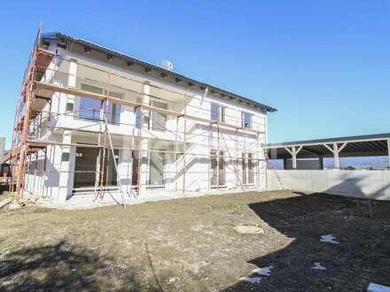 Zuhause im Grünen - Moderne Neubau-Wohnung mit 3 Zimmern und Loggia