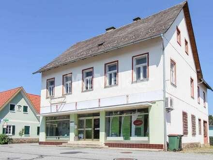 Großes Nutzungs- und Gestaltungspotenzial! Charmantes Wohn- und Geschäftshaus in Schwanberg!