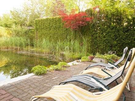 Gediegenes Landhaus im Speckgürtel von Graz voll möbliert mit schönem Garten und Schwimmteich