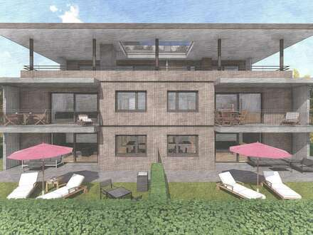Baubeginn erfolgt! 3 - 4 Zimmer Gartenwohnung mit riesiger Südterrasse