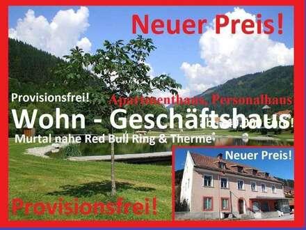 Wohn-Geschäftshaus Murtal nahe Ski, Red Bull Ring & Therme! Mehrere Kaufvarianten!