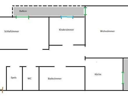 Nachmieter für günstige 94m² OSG-Wohnung gesucht