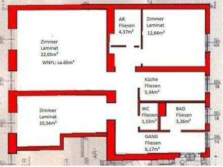 PROVISIONSFREI! 3 Zimmer Wohnung in Biedermannsdorf zu vermieten
