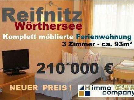 Komfortable, möblierte Gartenwohnung am Wörthersee - 3 Zimmer - 88m2 Wfl., 210m² Nfl.