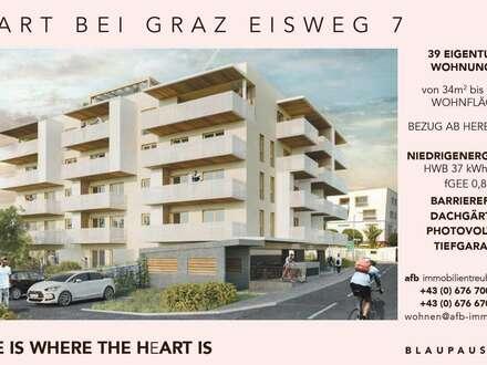 3 Zimmerwohnungen - direkt in Pachern/Hart bei Graz - Neubau - mit Dachgartenanteil