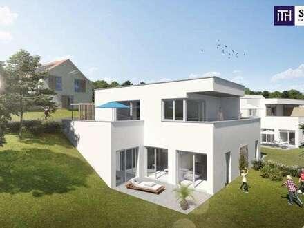 ENDLICH INS TRAUMHAUS EINZIEHEN: Familiengerechte Haushälfte mit wunderschönem Garten + RIESIGEN TERRASSEN + Photovoltaik…