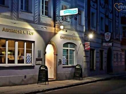 Gutgehendes Traditionsgasthaus in Bestlage ! PENSION ASCHACHERHOF ! in Aschach an der Donau mit Fremdenzimmer zu verkaufen