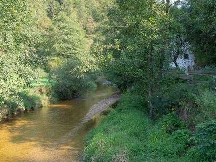 Landwirtschaftliches Anwesen in Naturlage am Fluss