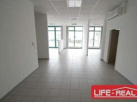 Vermietetes, modernes Büro mit großen Auslagenfronten in einem TOP-Gebäude in Linz