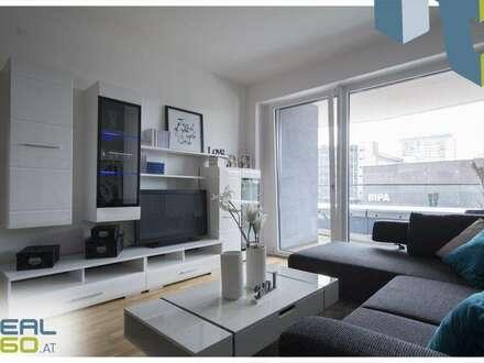 NEUBAU - 2-Zimmer Wohnung mit großer Wohnküche und riesigem Balkon - LENAUTERRASSEN!