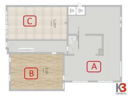 Raum für Lager, Werkstatt, Produktion, kleine Praxis oder Verkaufsraum - auch einzeln