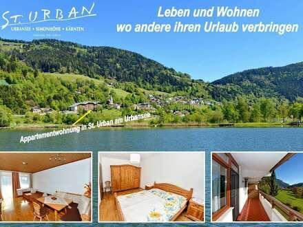 Appartementwohnung mit See- und Karawankenblick in St. Urban / Kärnten
