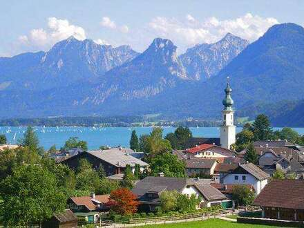 Unverbaubarer Blick auf den Wolfgangsee