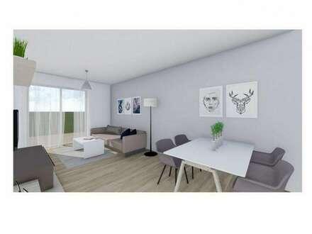 Kleine, smarte Zwei-Zimmer Erdgeschosswohnung mit Eigengarten und großer Terrasse