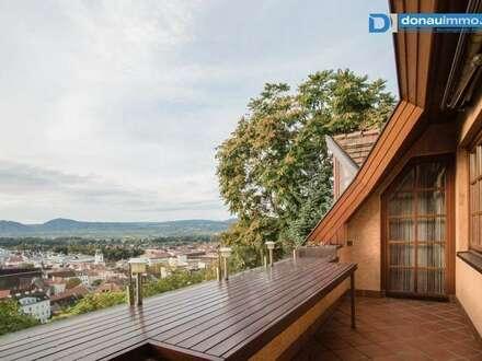 Rarität am Wachtberg in Krems in Top Aussichtslage über die Stadt, nach Göttweig, in die Wachau und das östlich Donautal