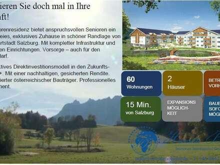 Moderne Eigentumswohnungen/Penthouse Atelier mit Balkon/Terrasse oder Loggia in exklusiver Seniorenresidenz am Fuße des Unterberges nahe der Kulturstadt Salzburg