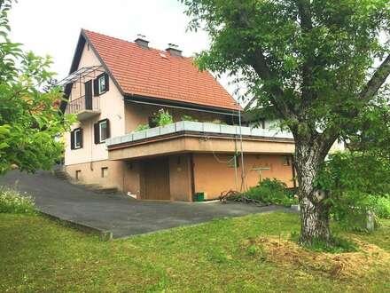Deutschlandsberg: Einfamilienhaus mit Garage, großer Terrasse und Wintergarten in Top Lage am Stadtrand