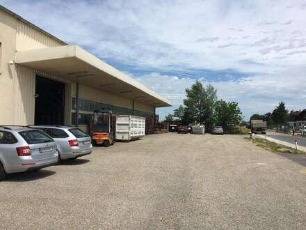 Lager-/Produktionshalle mit Büro zu mieten.