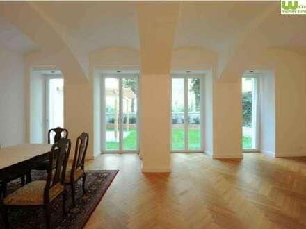 Gartenwohnung zum Wohnen und Arbeiten über 2 Etagen! Hochwertig saniert Nähe Belvedere!