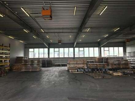 Betriebs- und Lagerhallen im Gewerbegebiet in Enns