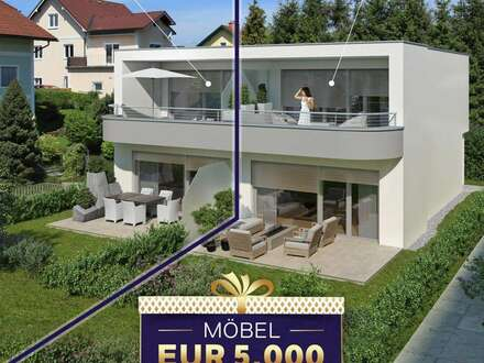 AKTION - 5.000€ MÖBELGUTSCHEIN INKLUSIVE - 95,85m² Doppelhaushälfte mit Eigengarten - PROJEKT TRAUNSCHIFF GMUNDEN