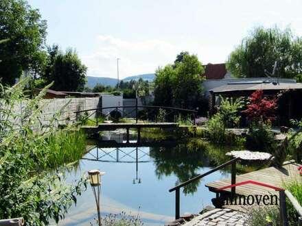 Sehr gepflegtes Einfamilienhaus mit Schwimmteich im Garten und vielen Obstbäumen! - einfach ein NATURJUWEL vor den Toren von Graz