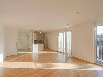 hofseitige, zentral gelegene Familienwohnung mit Balkon (4 Zimmer - ERSTBEZUG)!