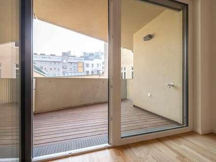 Ideal für Morgengenießer: exklusive Kleinwohnung mit 12m² Loggia // ERSTBEZUG im Leopold!