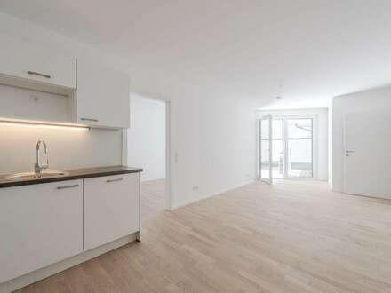 **beste Stadtlage - ruhige 3 Zimmer Neubauwohnung mit Innenhof-Terrasse - ab sofort!