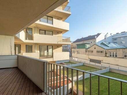 Modern - hochwertig - zentral: 2 Zimmer-Erstbezugswohnung mit Loggia!