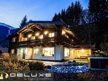 5700 Zell am See: Rarität: ein besonderes Alpen Chalet in Zell am See / ca. 6000m² Grundstück mit Wald, 6 Doppelzimmer, Sauna…
