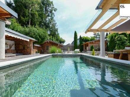 Traumhafte Designer-Villa im Luxus-Stil - mit Pool, schönem Ausblick und Top-Ausstattung (in Rif, nahe Anif/Niederalm, Salzburg…