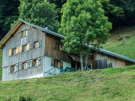 Berghütte in Alleinlage im Bregenzer Wald