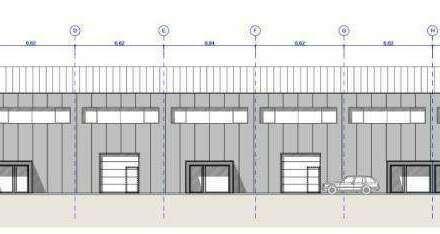Neubau einer Systemhalle mit Produktionsflächen, Büros, Lager und Stellplätzen