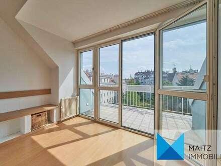 DG-Maisonette mit Balkon & Dachterrasse *Ruhelage und Ausblick* | nahe Rötzergasse **360-Grad-Tour**