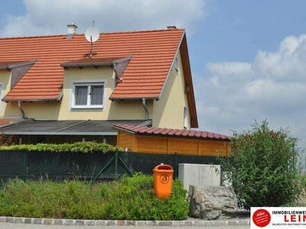 Flandorf: Sehr feine Doppelhaushälfte mit neu angelengtem Garten – Nähe Korneuburger Stadtgrenze