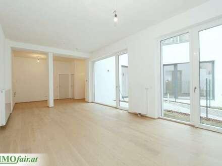 ARBEITEN IM GRÜNEN - loftartiger Grundriss - 1 bis 2 Zimmer mit Freifläche - EG - Büro 2: ca. 54,47m² + 11,09m² Garten -…