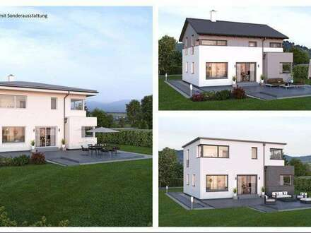 Untermitterdorf/Nahe St.Andrä&Völkermarkt - ELK-Design-Haus und Grundstück in leichter Hanglage (Wohnfläche - 130m² & 148m²…