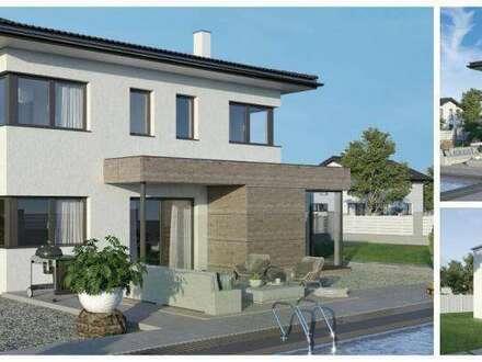 Randlage Altmünster - Schönes ELK-Design-Haus und Hanggrundstück (Wohnfläche - 130m² & 148m² & 174m² möglich)