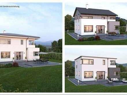 Randlage Micheldorf - Schönes ELK-Design-Haus und ebenes Grundstück mit Gartenhütte (Wohnfläche - 130m² & 148m² & 174m² möglich)