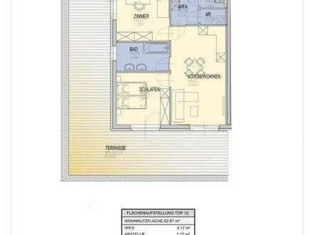 67 m² Terrasse-Balkon/ 3-Zimmer Neubauw-Wohnung/ West-Ausrichtung/ Wetzelsdorf/ provisionsfrei für den Käufer!