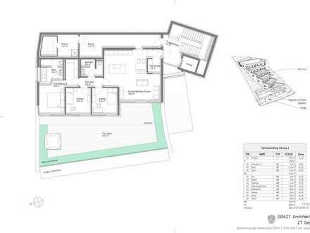 TOP 3 + 137,44 m² WNF + PROVISIONSFREI FÜR DEN KÄUFER + NÄHE REINERKOGEL + 97,57 m² TERRASSE