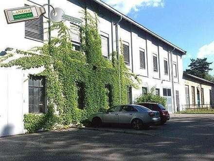 Hier wird ein großes Büro mit Parkplätzen angeboten und eventuell zusätzliche Hallen zu mieten!