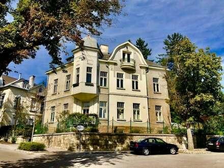 EXQUISITE Jahrhundertwände-Herrscher-VILLA mit 5-Zimmer Familien-Wohnung mit GARTEN in Bestlage & Grünruhelage - BADEN!