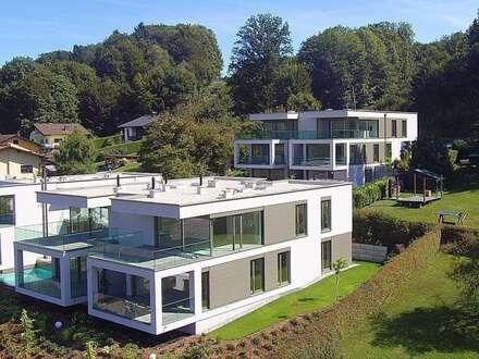 """Velden - Wörthersee: AUEN VILLEN - TOP 6: """"3 Zimmer-Wohntraum mit Seeblick und großer Terrasse, Anteil am eigenen Seegrundstück,…"""