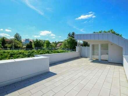 Letzte Neubau-Dachgeschoßwohnung   121m² WFL+56m² Dachterrasse & Balkon  Top14m