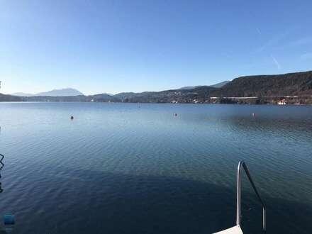 Velden/Wörthersee: Erstbezug - Modern-Zeitlos möblierte Ganzjahreswohnung am Pool mit schönen Blick zum See, eigener Seegrund…