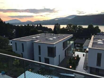"""Velden am Wörthersee: TOP 8: """"Traumhaftes Penthouse mit großer Terrasse und einzigartigem Seeblick, eigener Seegrund, TG, Pool"""""""